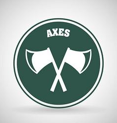Axes icon vector
