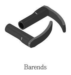Barend handlebar icon isometric 3d style vector