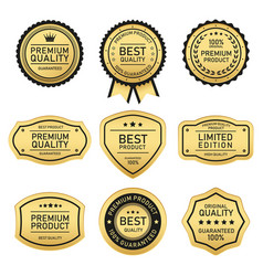 best quality product labels design vector image