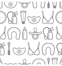 Breastfeeding Seamless pattern background with vector image
