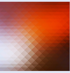 Brown orange white rows of triangles background vector