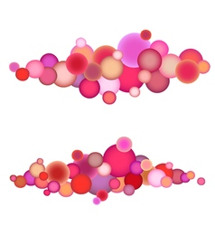 Bubble string pattern in multiple pink orange vector