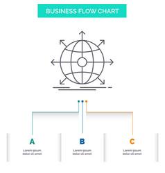 business global international network web vector image