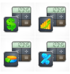 Calculators finance symbols vector