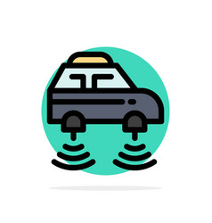 Car electric network smart wifi abstract circle vector