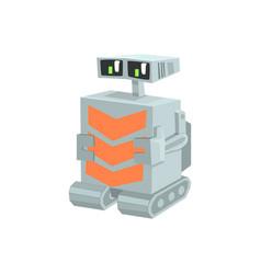 Cartoon crawler robot character vector