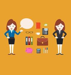 Character Businesswoman vector image