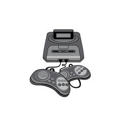 classic game console vector image