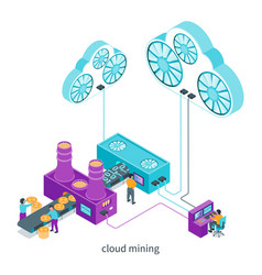 cloud mining concept vector image
