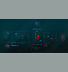Composition computer hud interface with vector