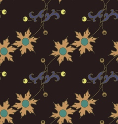 Dark floral seamless pattern vector
