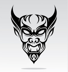 Devils Head Tattoo Design vector image