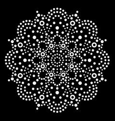 Dot art mandala traditional aboriginal vector