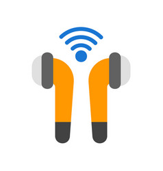 Earphone in flat style about internet things vector