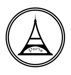 eiffel tower in black tone vector image