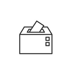 election voter box icon in flat style ballot vector image