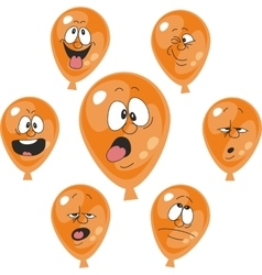 Emotion orange balloon set 007 vector image