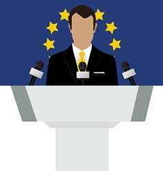 European union speaker vector image