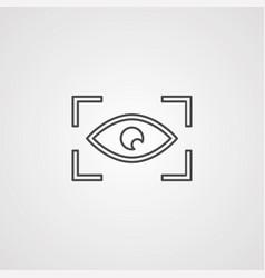 eye scan icon sign symbol vector image