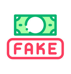 fake money currency icon outline vector image