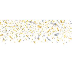 falling confetti gold silver confetti celebrate vector image