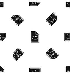 file html pattern seamless black vector image