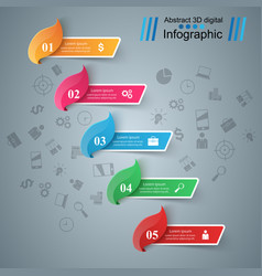 five items infographic business idea vector image