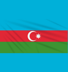 flag azerbaijan swaying in wind realistic vector image
