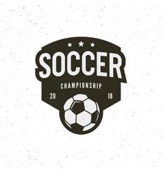 Football soccer logo sport emblem vector