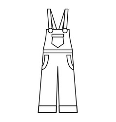 Garden worker clothes icon outline style vector