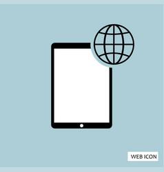 globalization icon globalization icon eps10 vector image