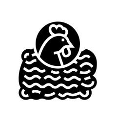 Ground chicken glyph icon vector