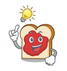 Have an idea bread with jam mascot cartoon vector