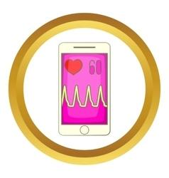 Health app on a smartphone icon vector image