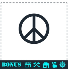 Hippie Peace icon flat vector image