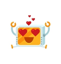 In Love Little Robot Character vector image
