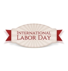 International Labor Day paper realistic Banner vector image