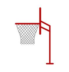 isolated basketball net icon vector image