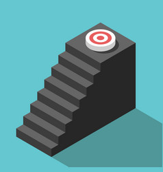 isometric steps to target vector image