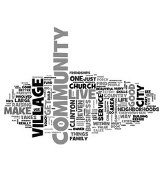 It takes a village text background word cloud vector