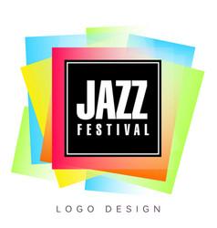 Jazz festival logo template creative banner vector