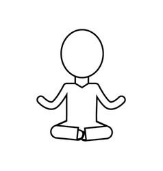 Line mental health pictogram meditation vector