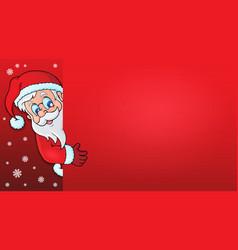Lurking santa claus with copyspace 1 vector