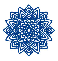 Mandala laser cutting for paper napkins vector