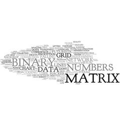 Matrix word cloud concept vector