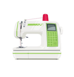 modern sewing machine with red vector image