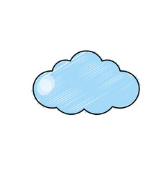 Natural cloud design to fresh weather vector