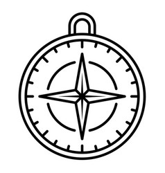 navigation compass icon outline style vector image