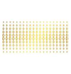 Phone ring golden halftone pattern vector