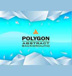 polygon concept design abstract background vector image